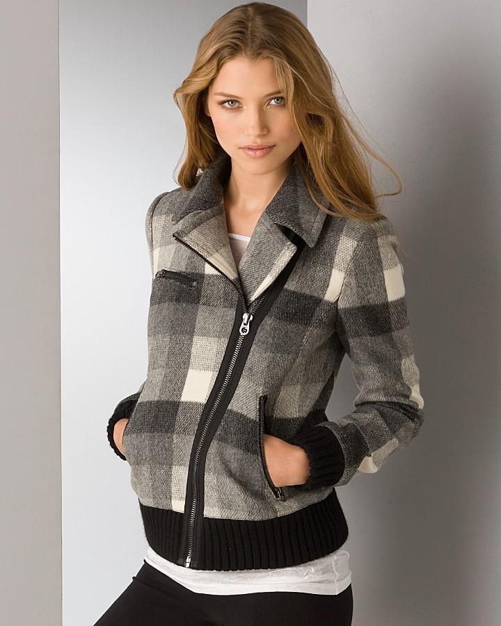 Juicy Couture Wool Plaid Jacket