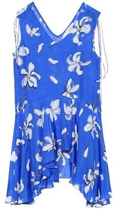 Isa Arfen Floral-printed silk top