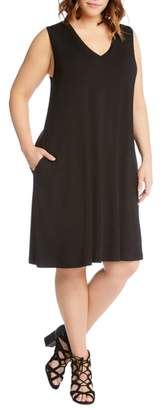 Karen Kane Sleeveless Pocket Jersey Dress