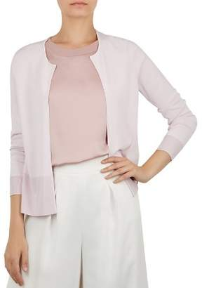 Ted Baker Kortni Splendour Pleat-Back Cardigan