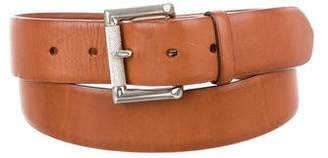 Ralph Lauren Silver-Tone Leather Belt