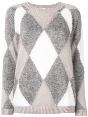 Eleventy argyle print sweater