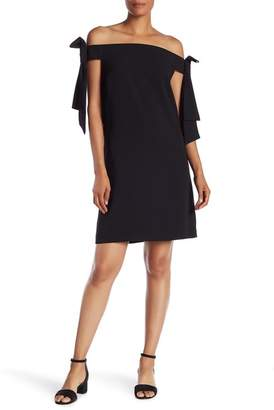 Cynthia Steffe CeCe by Off-the-Shoulder Tie Sleeve Dress