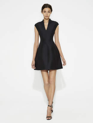 Halston Structured Silk Faille Dress