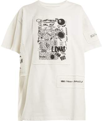MM6 MAISON MARGIELA Printed-appliqué cotton T-shirt