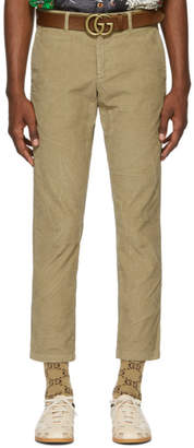 Gucci Beige Wrinkle Corduroy Chinos