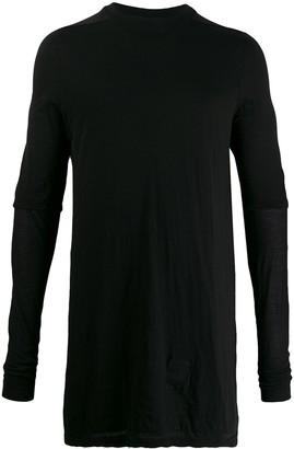 Rick Owens layered long-line knit top
