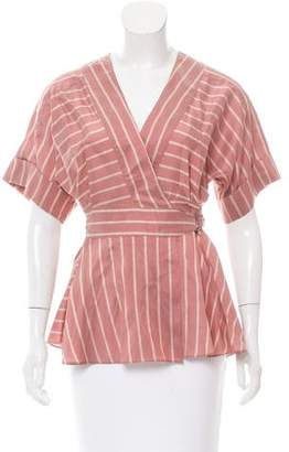 Tome Striped Wrap Top