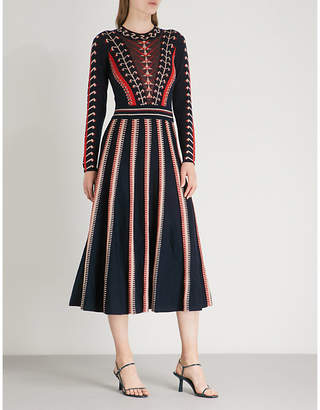 Temperley London Ida printed wool midi dress