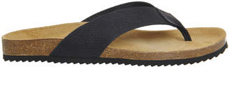 5576ba09d704 Office Darwin Thong Sandals Black Leather