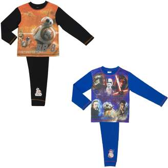 Star Wars Cartoon Character Products 2 Pack The Last Jedi Boys Pyjamas Size 4-10 Y
