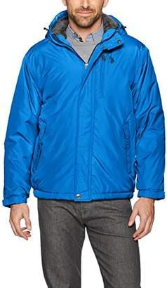 U.S. Polo Assn. Men's Standard Sherpa Lined Hooded Windbreaker