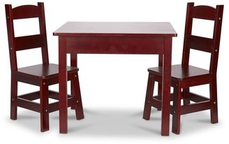Melissa & Doug Wooden Table and Chairs Set Espresso