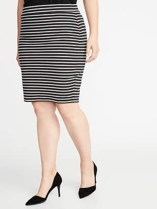 Old Navy Secret-Slim Plus-Size Ponte-Knit Pencil Skirt