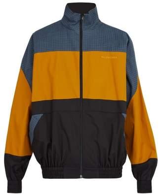 Balenciaga Zip Through Cotton Sweatshirt - Mens - Multi