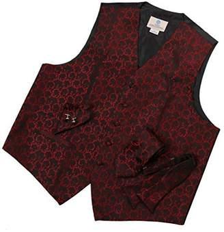IDEA VS1020-L Blue Pattern Mens Gifts Vest Necktie Cufflinks Bowtie Hanky By Y&G