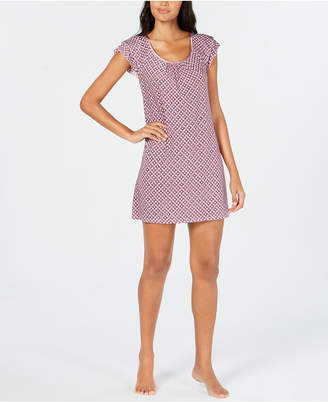 Alfani Printed Flutter Sleeve Nightgown