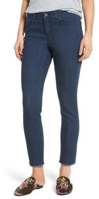 Petite Women's Caslon Frayed Hem Skinny Ankle Jeans $79 thestylecure.com
