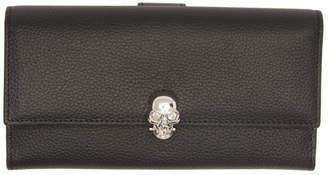 Alexander McQueen Black and Silver Skull Wallet