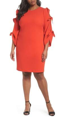 Vince Camuto Tie Bell Sleeve Ponte Shift Dress