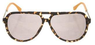 HUGO BOSS Tortoiseshell Aviator Sunglasses w/ Tags