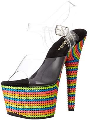 Pleaser USA Women's ADO708RBS/C/Nmc Platform Dress Sandal