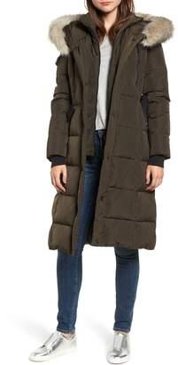 BCBGeneration Faux Fur Trim Quilted Coat