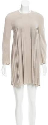 Calvin Klein Collection Pleated Mini Dress