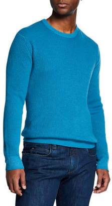 Loro Piana Men's Girocollo Cash York Ribbed Sweater