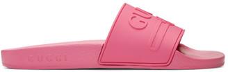 Gucci Pink Pursuit Pool Slides