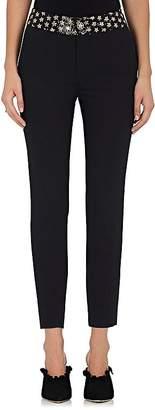 BLINDNESS Women's Sequined-Waist Wool-Blend Trousers