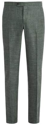 Thom Sweeney - Wool Blend Tailored Trousers - Mens - Green