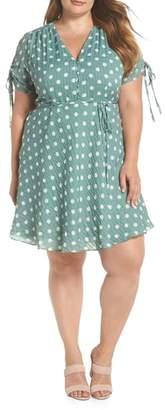 Glamorous Polka Dot Fit & Flare Dress