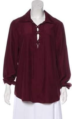Frame Silk Long Sleeve Top