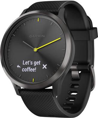 Garmin vivomove Hr Black Silicone Strap Hybrid Smart Watch 43mm