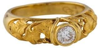 Carrera y 18K Diamond Ginkgo Ring