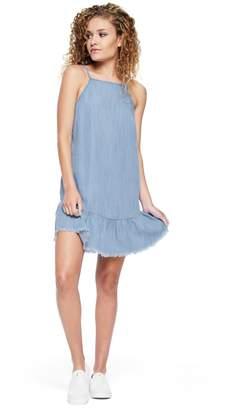 Juicy Couture Chambray Ruffle Dress