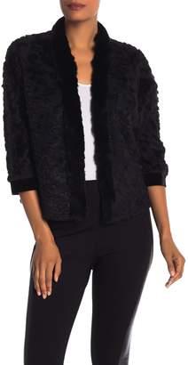 Elie Tahari Genuine Rabbit Fur Allister Jacket