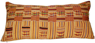 One Kings Lane Vintage African Kente Tribal Textile Pillow
