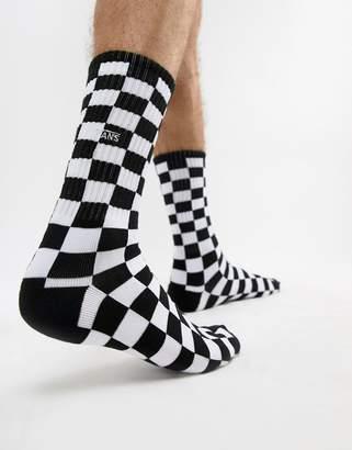 Vans checkerboard 1 pack socks in black VN0A3H3OHU01