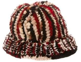 Knitted Fur Brimmed Hat