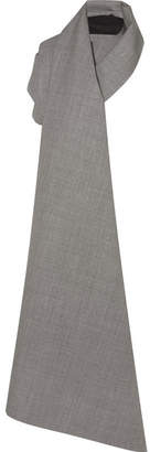 Gareth Pugh Wool-jacquard Wrap - Gray