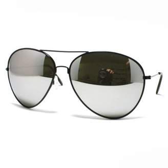 JuicyOrange Super Oversized Aviator Sunglasses Unisex Fashion Big Mirror Lens