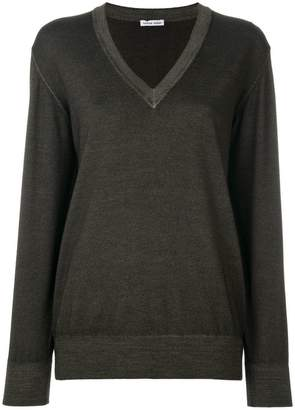 Tomas Maier merino v-neck sweater