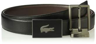 Lacoste Men's Classic Textured Leather Belt