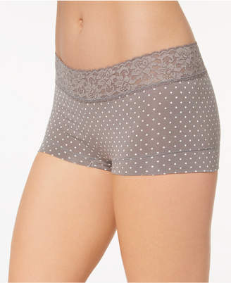 Maidenform Cotton Dream Lace Boyshort 40859