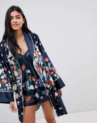 Ted Baker Kensington Floral Satin Kimono