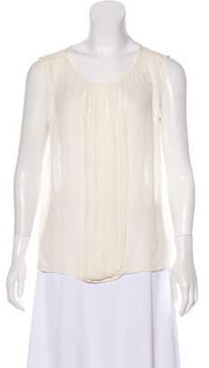 Nili Lotan Sleeveless Silk Blouse