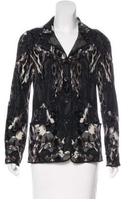 Fuzzi Wool Intarsia Jacket