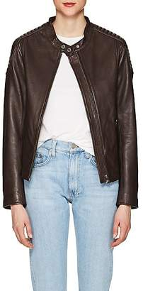 William Rast WOMEN'S LEATHER MOTO JACKET